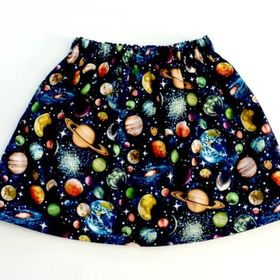 Sizes XS 3XL Outer Space Pattern Skater Dress Galactic Girl
