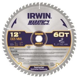 Irwin Marathon 12 In 60 Tooth Carbide Miter Table Saw Blade For Use On Composite Decking Iwas1260 In 2020 Table Saw Blades Table Saw Circular Saw