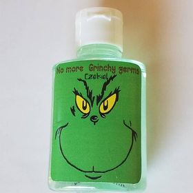 Christmas Holidays The Grinch Movie Hand Sanitizer Labels Party