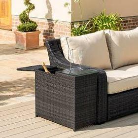 Dakota Fields Etowah Ice Bucket Rattan Side Table In 2021 Rattan Garden Furniture Maze Rattan Pallet Garden Furniture