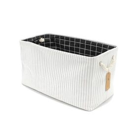 Handmade Canvas Storage Bin 22 X 11 X 13 Pin Stripe Multicolor Handcrafted 4 Home Cotton In 2020 Laundry Bin Storage Bins Storage