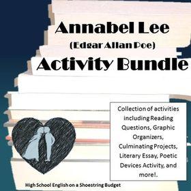 Annabel Lee Activity Bundle E A Poe Pdf Literary Essay Teaching Literature American