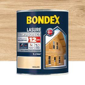 Lasure Bondex Lasure Ultim Protect 12 Ans 12 Ans Incolore Satine 1 L En 2020 Lasure Chene Clair Et Peinture Bois Exterieur