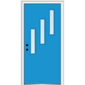 Verona Home Design Fibreglass Smooth 3 Lite Vertical Clear Single