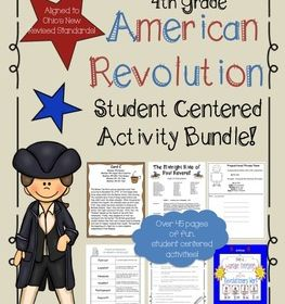 4th Grade American Revolutionary War Activity Bundle With Images