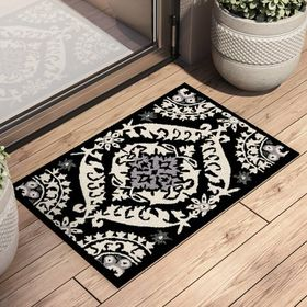 Safavieh Chelsea Hand Hooked Wool Black Ivory Gray Area Rug Rug Size Rectangle 1 8 X 2 6 Area Rugs Hand Tufted Rugs Rugs