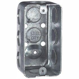 Steel City 1 Gang 4 In 2 1 8 In Old Work Metal Handy Box Case Of 25 5835112 25r Steel Rugs On Carpet Metal
