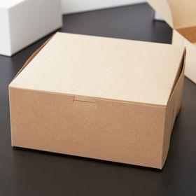 8 X 8 X 4 Kraft Cake Bakery Box 10 Pack In 2020 Bakery Box Bakery Cakes Cake Packaging