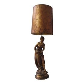 Vintage Greek Roman Goddess Neoclassical 5 Foot Lamp Lamp Ceramic Lamp Roman Goddess
