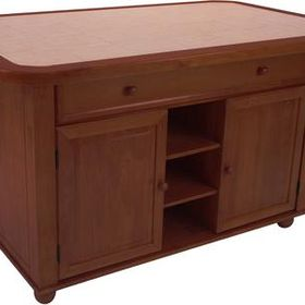 Cy Kitt02 Nut Sunset Oak Selections Collection Kitchen Island With