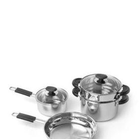 Berghoff Kasta 6 Piece Cookware Set Silver Cookware Set