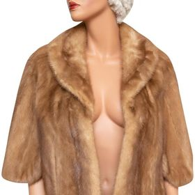 Tradesy Brown Mink Stole Poncho Cape Size Os One Size Vintage In 2020 Mink Stole Poncho Cape Midi Bridesmaid Dress