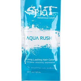 Splat Semi Permanent Aqua Rush Single Hair Dye Packet Dyed Hair
