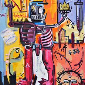 Nod To Basquiat Painting Basquiat Paintings Graffiti Painting Basquiat Art