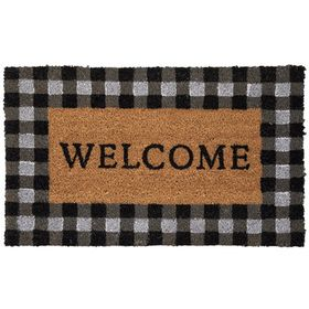 Welcome Buffalo Check Doormat Hobby Lobby 1613793 In 2020 Door Mat Hobby Lobby Christmas Buffalo Check