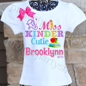 First Day of School Cutie top shirt for girls boys Sayings pre k 1st 2nd 3rd 4th 5th 6th grade all sizes