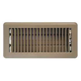 Accord Ventilation Brown Floor Register Duct Opening 4 In X 8 In Outside 5 5 In X 9 5 In Abfrbr48 In 2020 Floor Registers Brown Floors Vent Covers