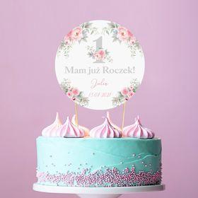 Topper Na Tort Roczek Kwiatowa Jedynka Z Imieniem Birthday Cake Cake Birthday