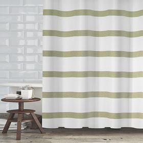 Maluberry 72 X 70 Shower Curtain In Sage Fabric Shower