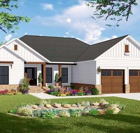 Plan 51189mm New American Ranch Home Plan With Split Bed Layout Modern Farmhouse Plans Country Style House Plans House Plans Farmhouse