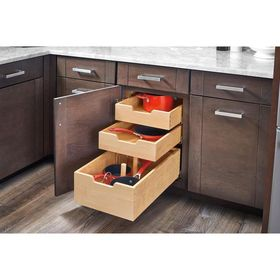 Rev A Shelf 22 75 In H X 16 31 In W X 21 62 In D Pilaster System Kit For Full Height Application Unfinished Wood In 2020 Rev A Shelf Sink Shelf Ikea Kitchen