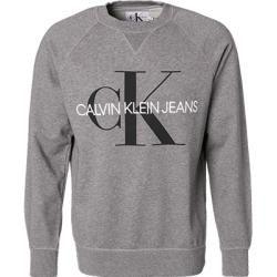 Calvin Klein Jeans Pullover Herren Baumwolle Grau Calvin Kleincalvin Klein In 2020 Sweatshirt Pullover