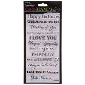 Card Phrases Clear Stamps Hobby Lobby 807826 In 2020 Clear Stamps Stamp Letter Stamps