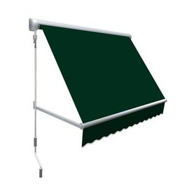 Awntech Mesa Retractable Patio Awning Colour Forest Green Size 24 H X 84 W X 24 D Polycarbonate Roof Panels Patio Flooring Windows Doors
