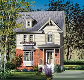 Compact Country House Plan Architectural Design House Plans House Plans Cottage House Plans