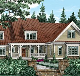 Country Home Plan With Attractive Shed Dormer Country House Plans House Plans Home Design Floor Plans
