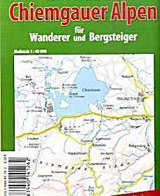 Spezialkarte Chiemsee Chiemgauer Alpen Fur Wanderer Und