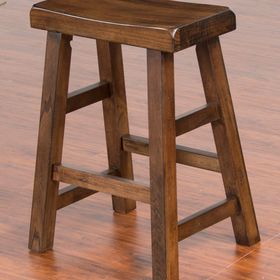 Saddle Seat Counter Height Stool 24 Inch Santa Fe Stool