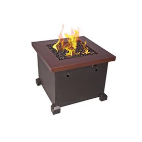 Camp Chef Santa Fe 30 In X 24 In X 30 In Square Steel Propane Fire Pit Table In Bronze Fire Table Natural Gas Fire Pit Fire Pit Table