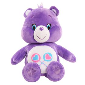 Care Bears 13 Plush Hug And Giggle Feature Share Bear Purple Care Bears Plush Care Bears Stuffed Animals Bear Plush