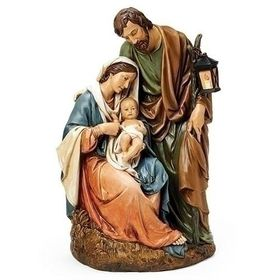 Exquisite Holy Family Figure With Seated Madonna Extra Large Size In 2020 Holy Family Christmas Family Figurine Holy Family