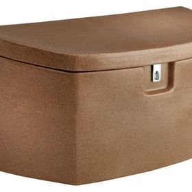 Koolscapes Deckbox Beige Deck Box Plastic Decking Metal Deck