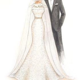Wedding Dress Sketch - Dreamlines