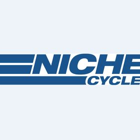 12 Stainless Steel Performance Motorcycle Muffler Reverse Cone Brushed 1.75 Inlet ID by Niche Cycle Supply