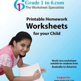 Worksheets for Grade 1 to 6