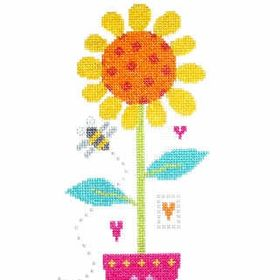 HERITAGE STITCHCRAFT MARGARET SHERRY MABEL AND BEE CROSS STITCH PATTERN