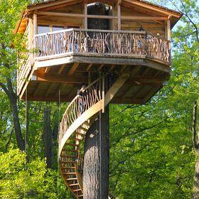 Caba as en los arboles zuhaitz etxeak ariane0487 on for Alojamientos cabanas en los arboles