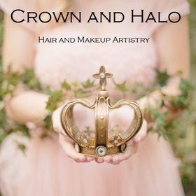 Crown and Halo Wedding Hair and Makeup