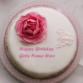 Happy Birthday Cake, Greeting Card Images Name And Photo Wishes