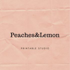 Peaches&Lemon | Printable Planner Inserts | Wall Art |