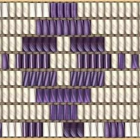 Iroquois Flag Iron-On-Purple Wampum Belt Appliqué