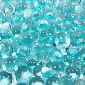 molten aqua glass
