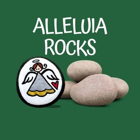 Alleluia Rocks: Hand-Painted Stones and Stamped Metal Items