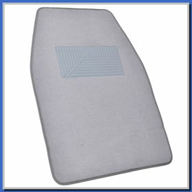 light gray floor mats