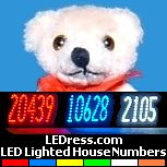 LED-lighted house numbers