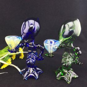 "6/"" Inch Glass Bubbler Pipe W//Case Screens Herb Poker Stir Tool Kit Hookah USA"
